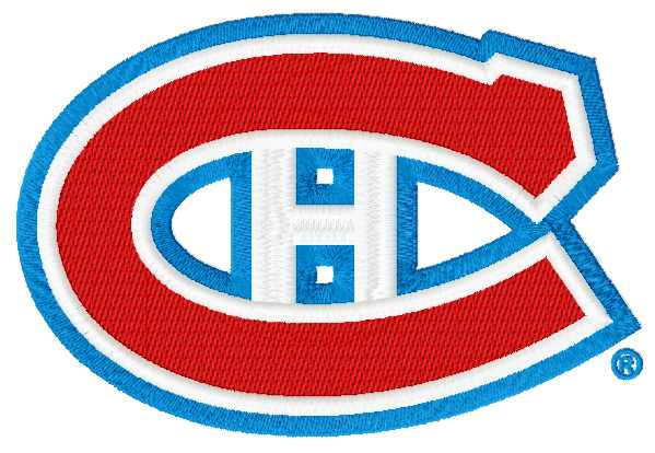 Montreal Canadiens logo embroidery variant