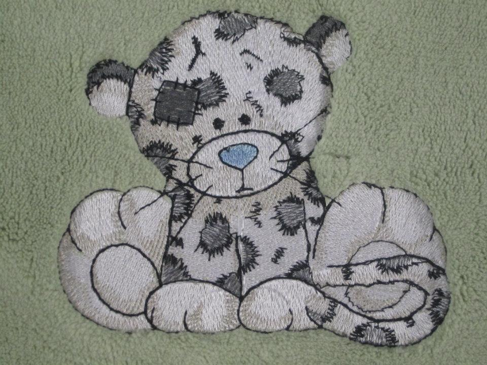 Leo the leopard embroidered on table mat