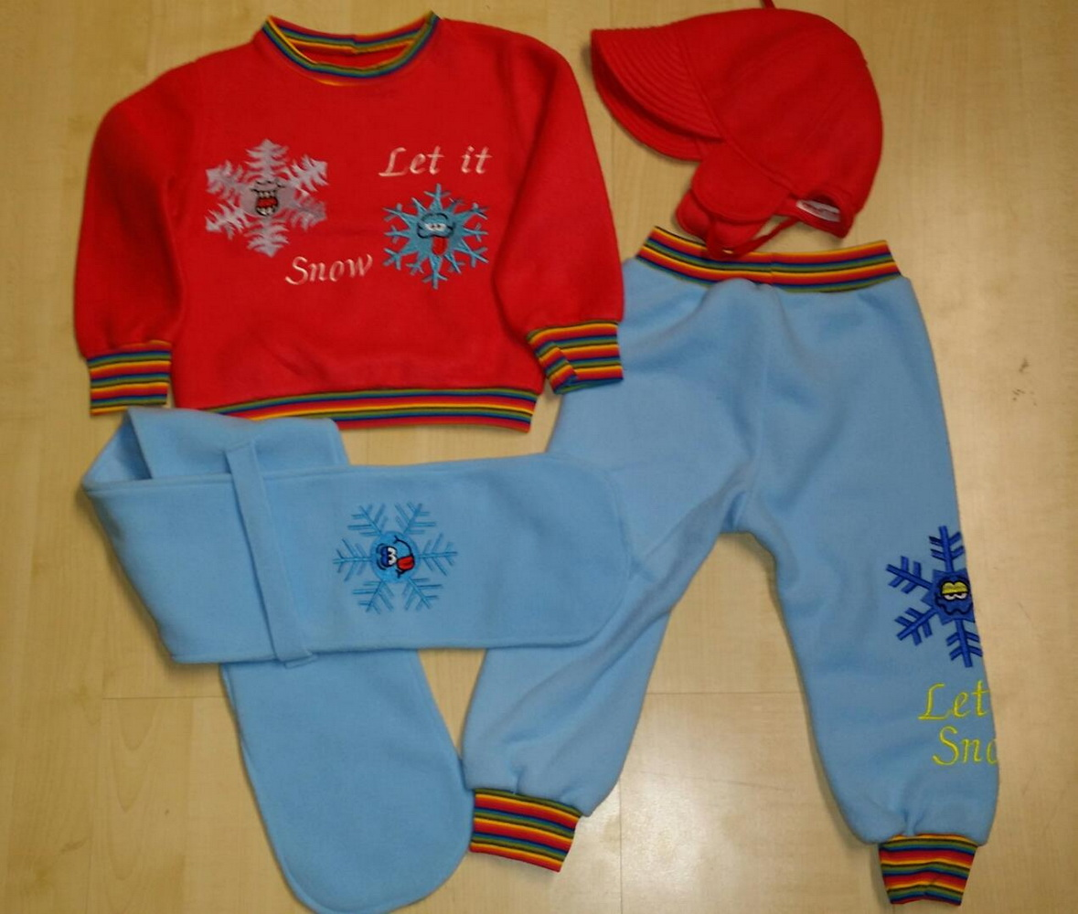 Snowflake designs embroidered on kid costume