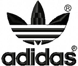 5533df591fe9e2 Adidas Logo machine embroidery design