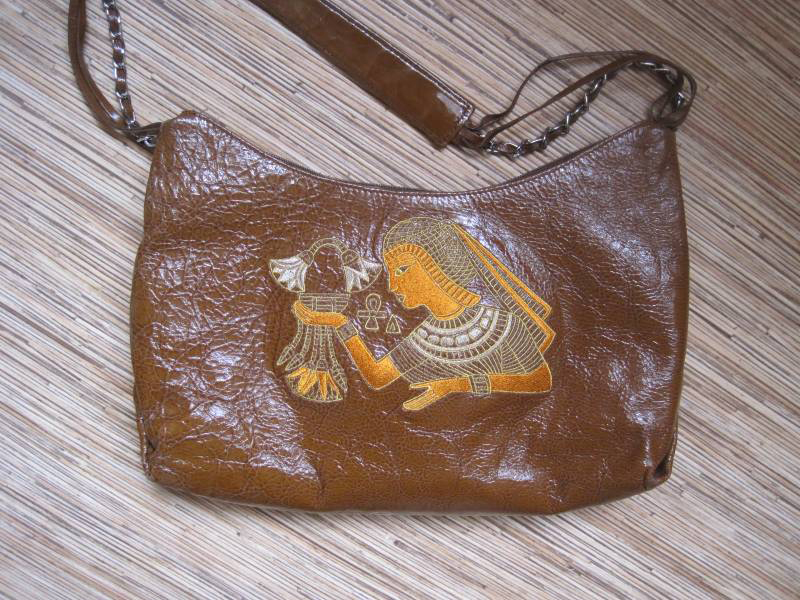 Egyptian bag with machine embroidery design