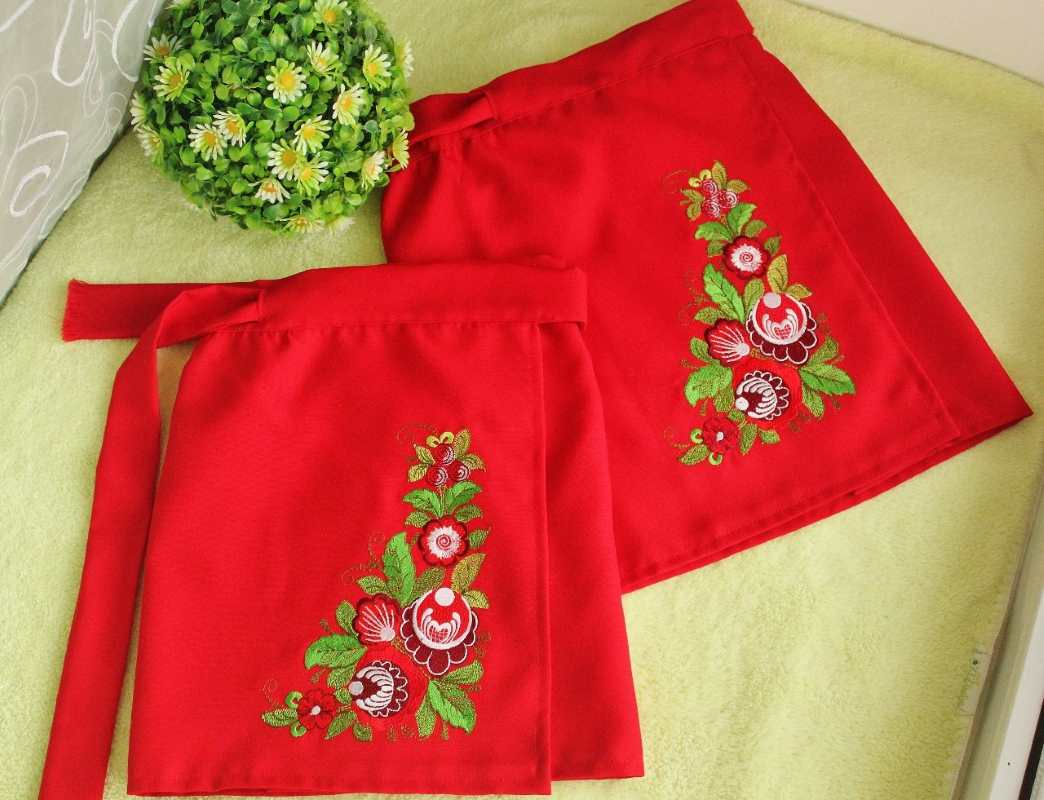 Skirt with flowers free embroidery design