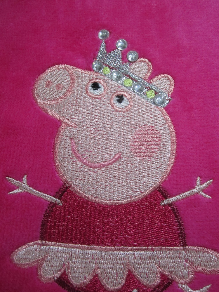 Peppa pig ballerina design on towel 3
