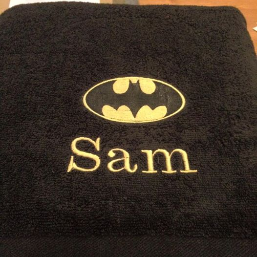 Batman logo design on towel12
