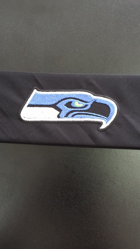 Seattle Seahawks logo embroidered