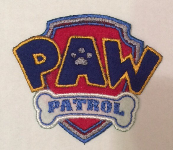 Paw Patrol logo embroidered