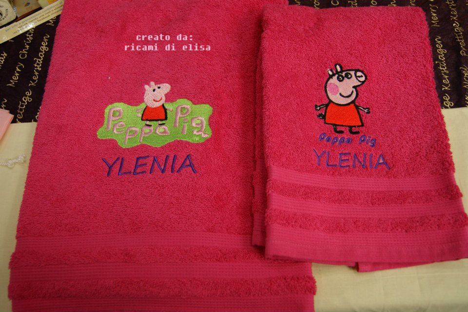 Peppa Pig designs on towels1