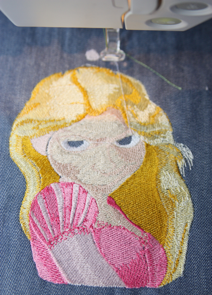 Rapunzel machine embroidery