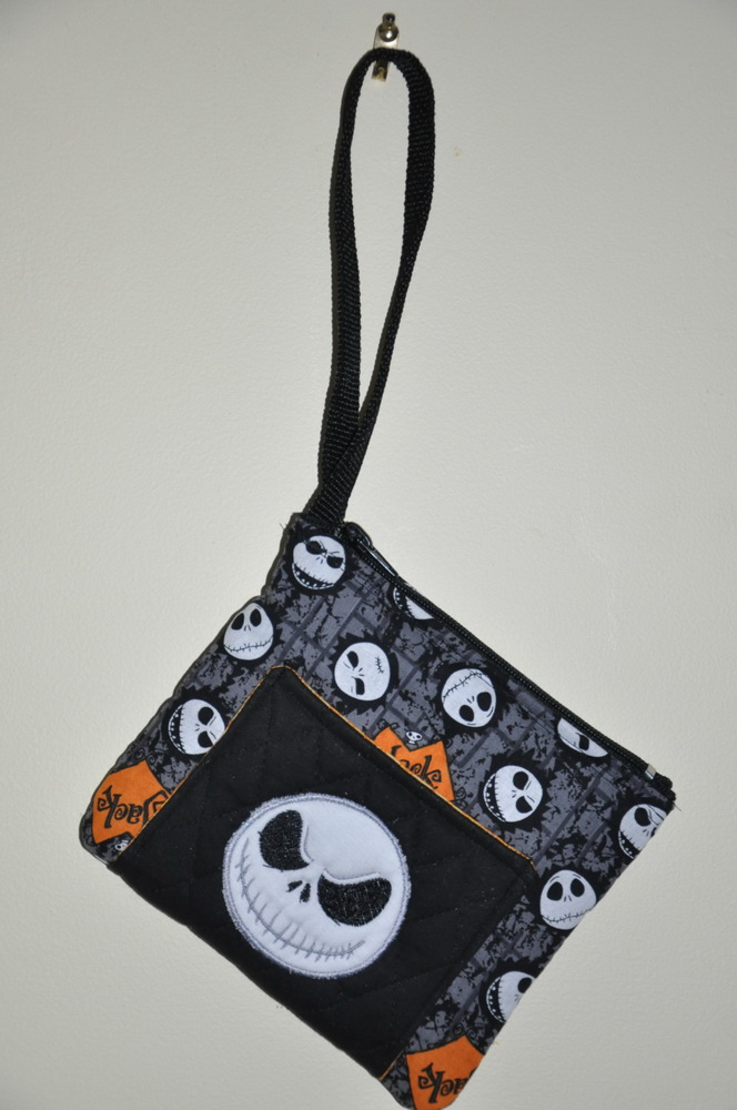 Small embroidered bag with Jack Skellington