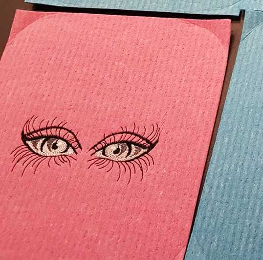Eyes embroidered free design