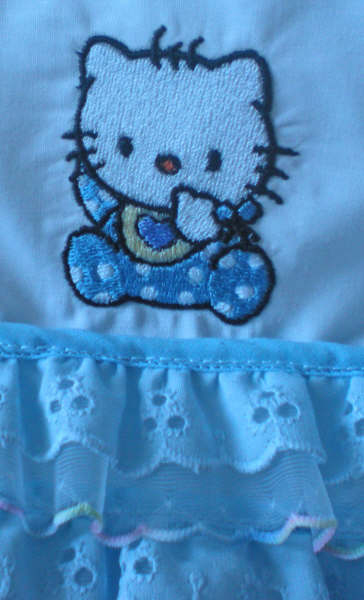 Hello kitty embroidered on baby romper