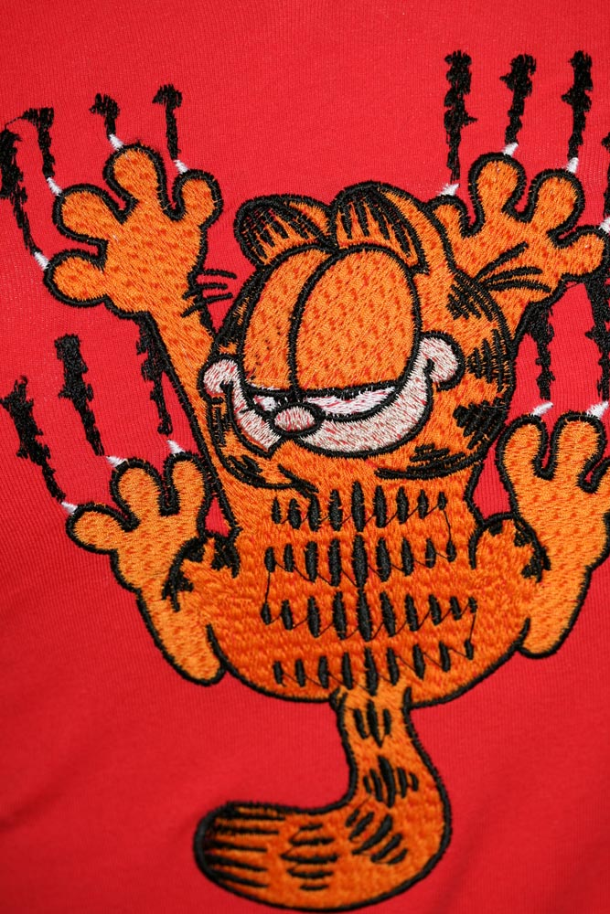 Garfield cat free embroidery design