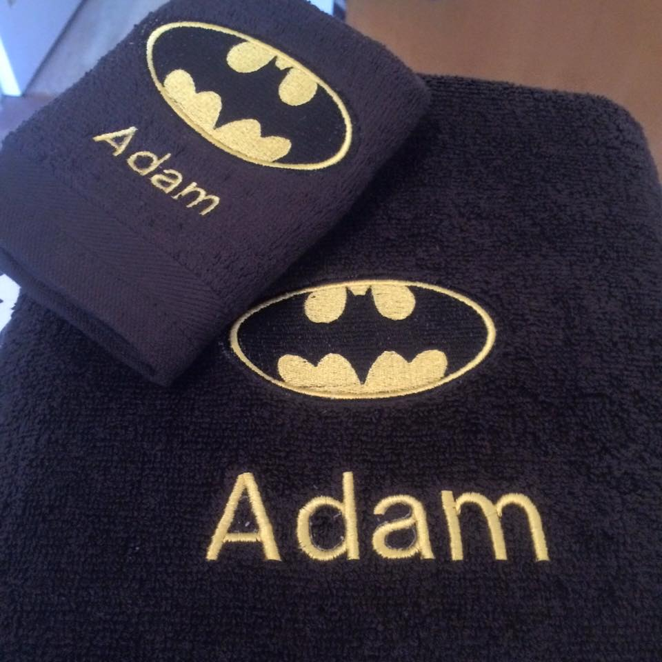 Batman logo design on towel20