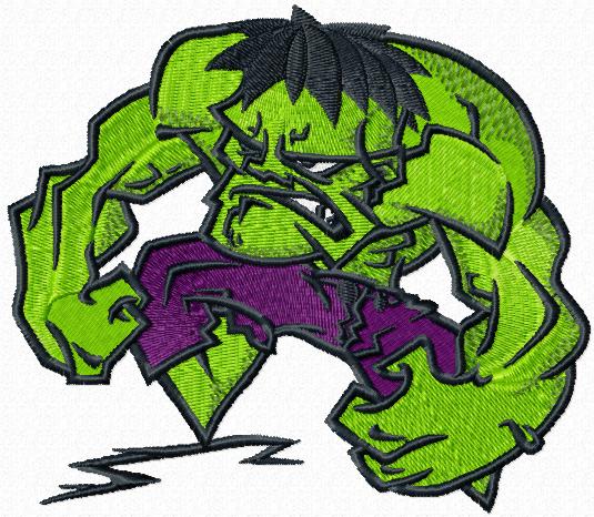 Digitized Embroidery files Hulk Super Hero Machine Embroidery Design Digital