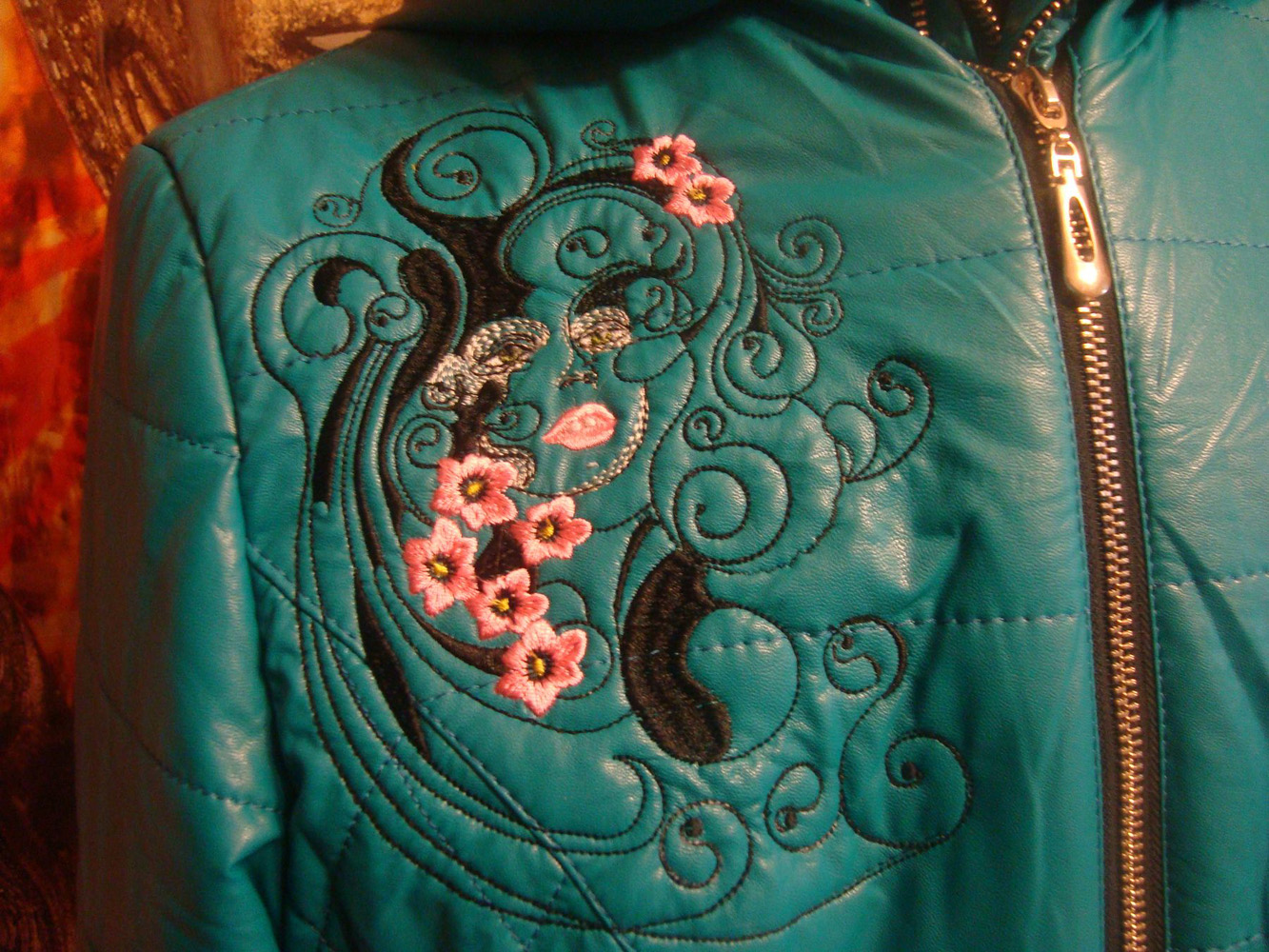 Embroidered jacket with Spring design