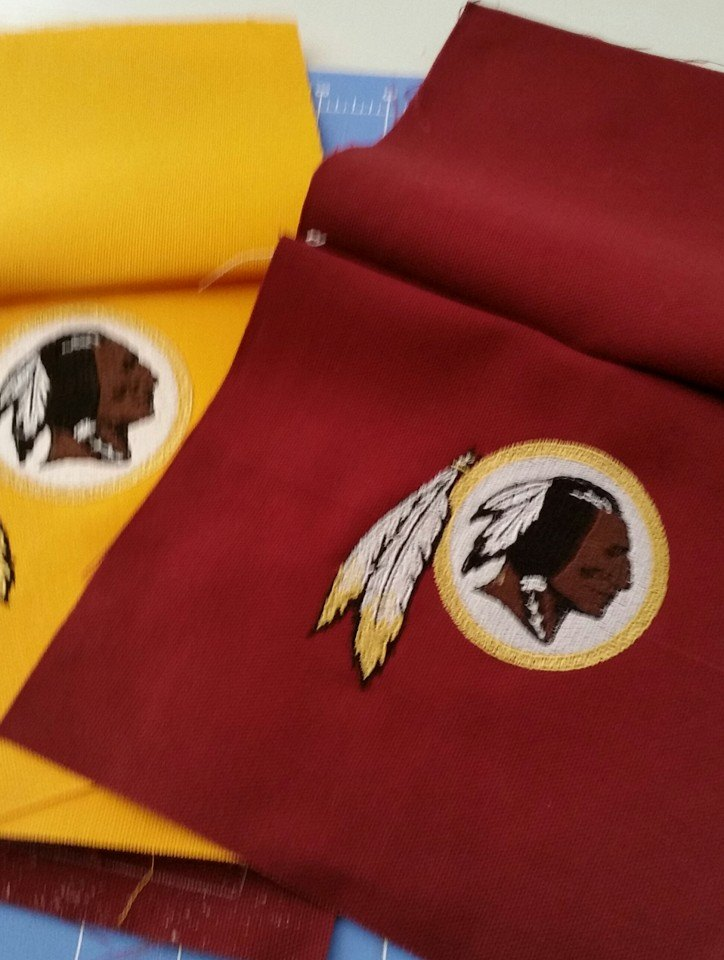 Washington Redskins logo embroidered