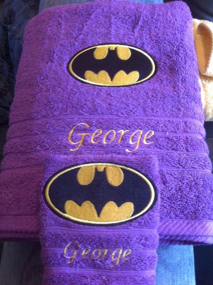 Batman logo design on towel2