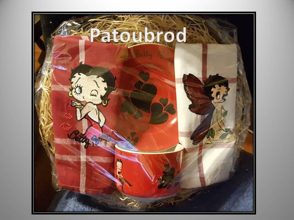 Betty Boop designs embroidered