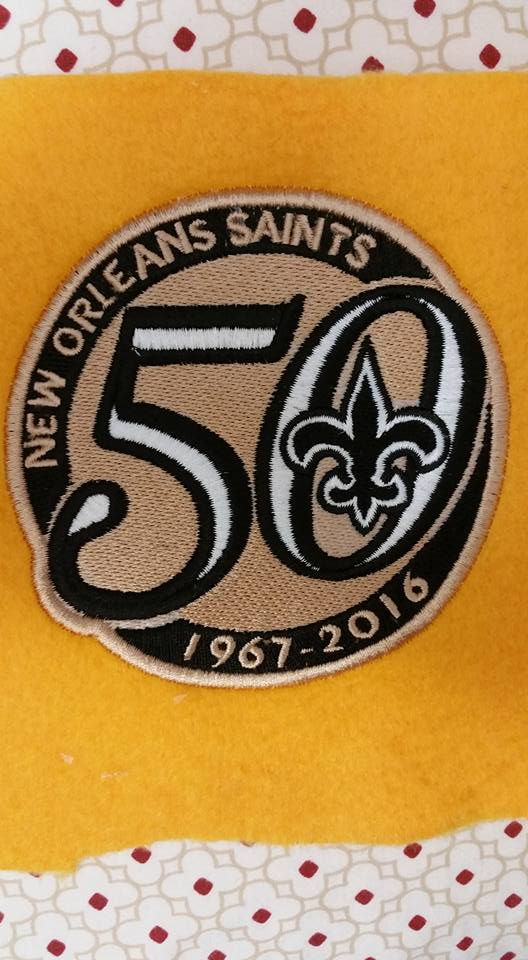 New Orleans Saints 50th anniversary design embroidered