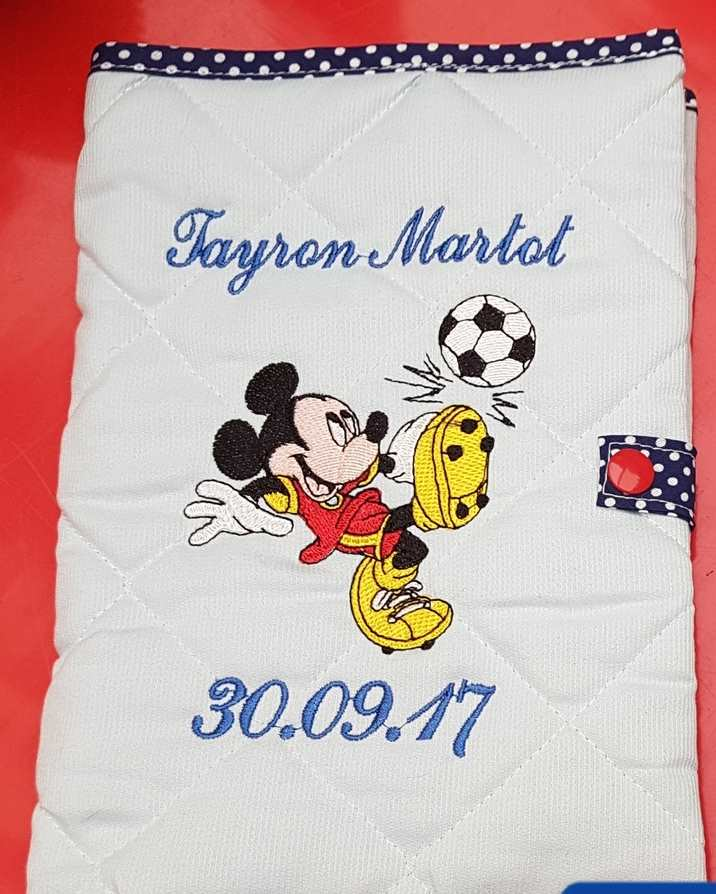Mickey Mouse like football embroidery design