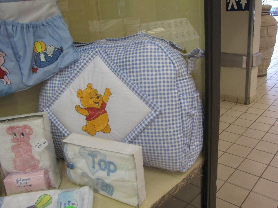 Baby Pooh and Eeyore designs embroidered