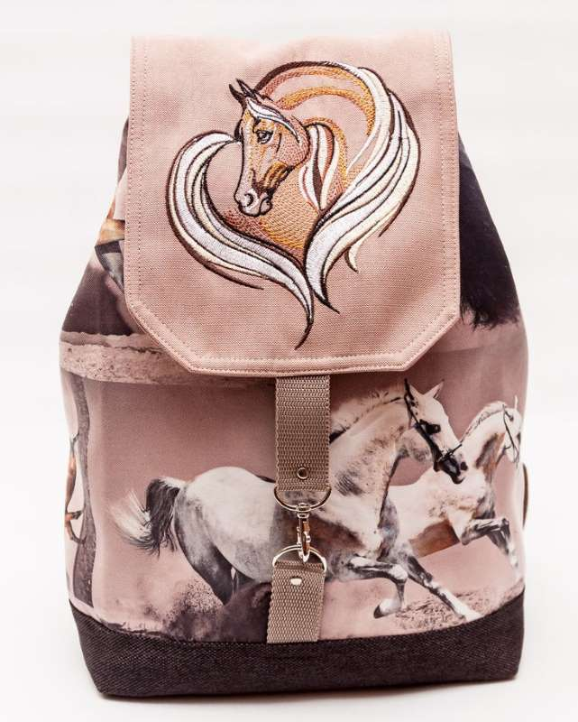 Item with Horse swirl heart design