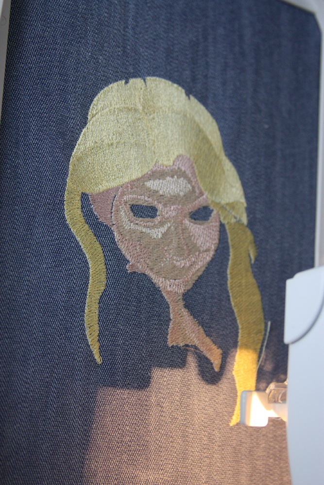 Rapunzel embroidered bag work start