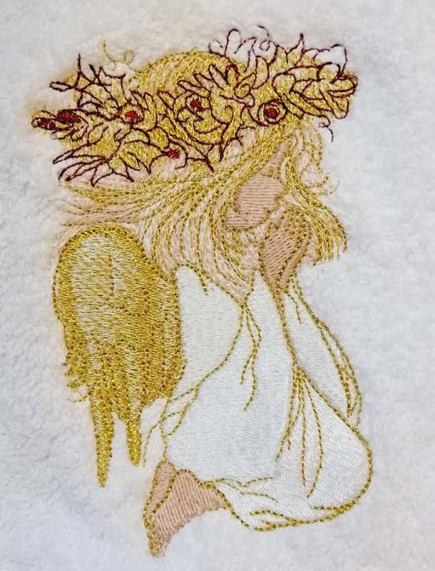 Embroidered cute angel design