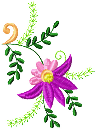 Flowers Small Element 3 Machine Embroidery Design