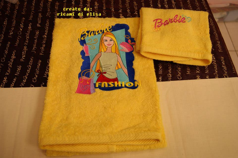 Barbie designs embroidered