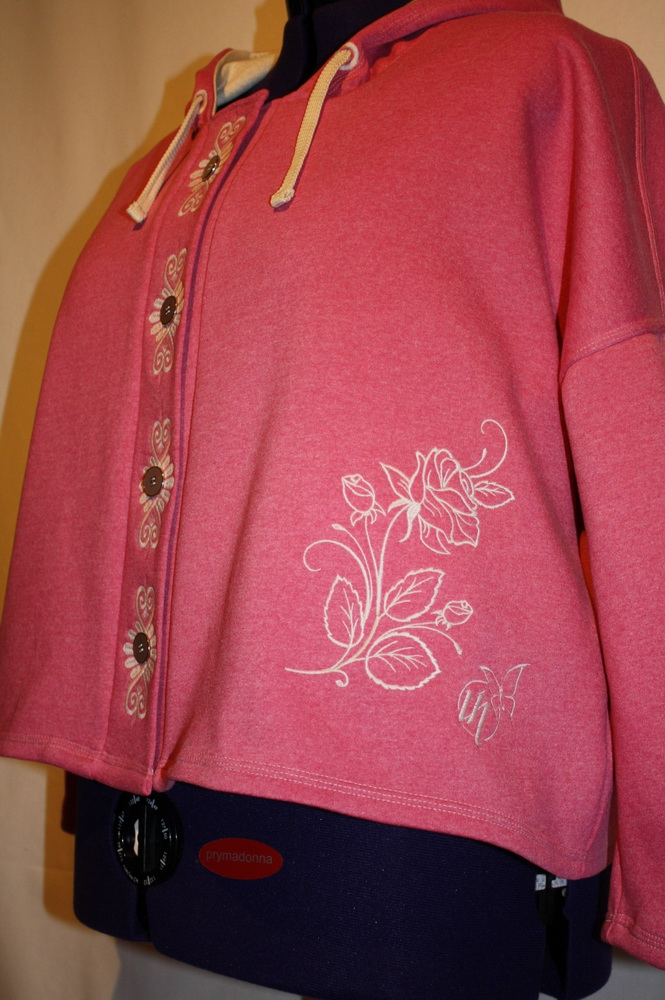 Rose one color design on jacket embroidered