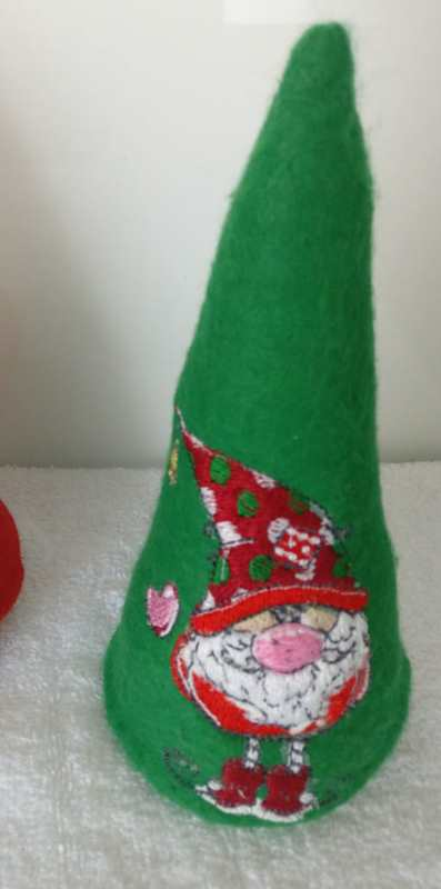 Cover with Christmas gnome embroidery design