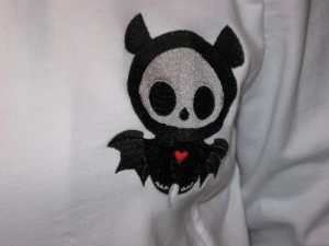 Embroidered bat