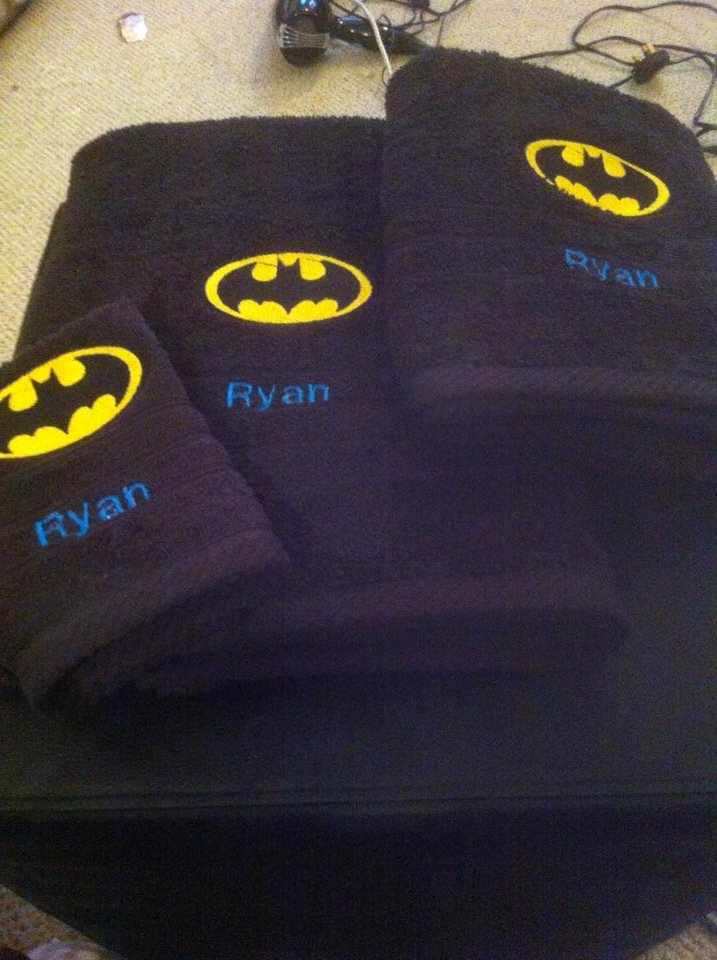 Batman logo design on towel3