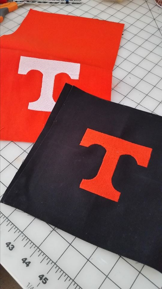Tennessee Volunteers Logo design embroidered