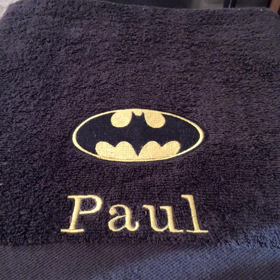 Batman logo design on towel10