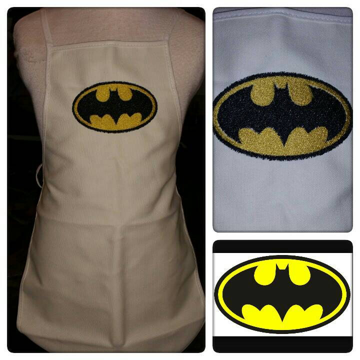 Batman logo design on apron1