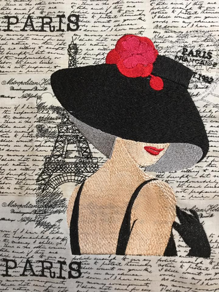 French coquette free machine embroidery design