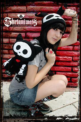 Fashion Girl and embroidered Skelanimals apparel