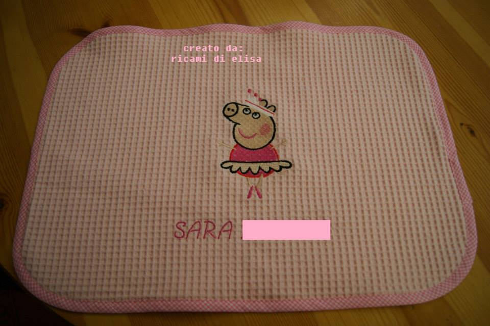 Peppa pig ballerina design on potholder2