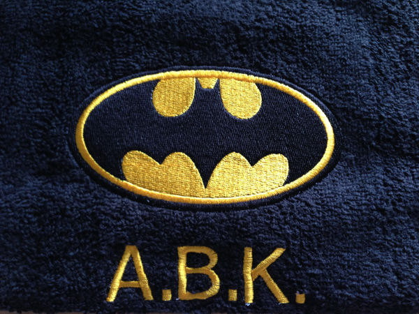 Batman logo design on towel16