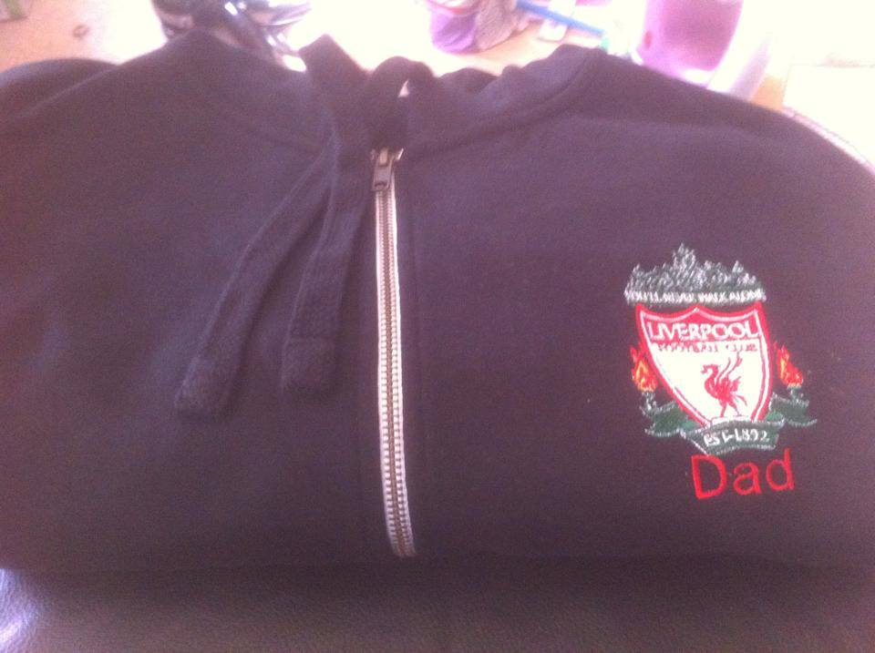Liverpool Football Club logo embroidery design on jacket