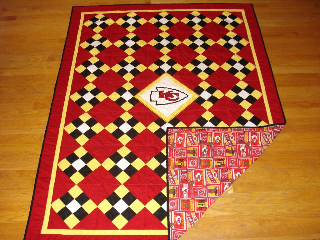 Carpet with Kansas City Chiefs logo embroidery design