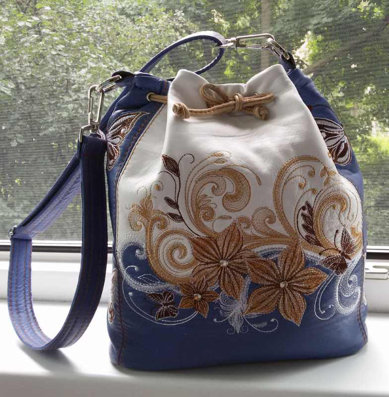 Bag with flowers magic design