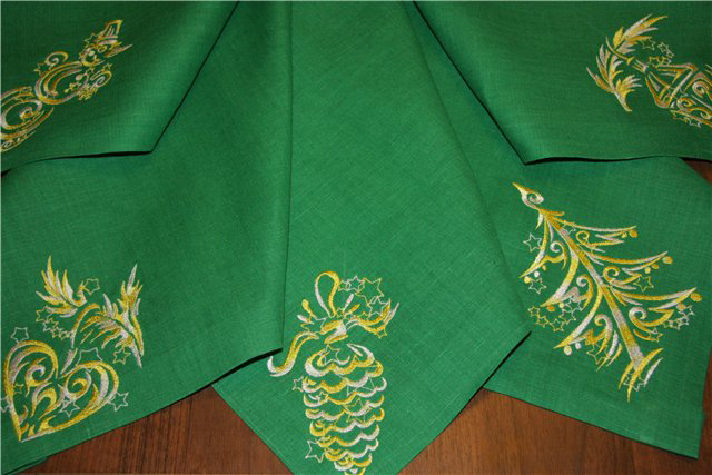 Christmas embroidered napkins