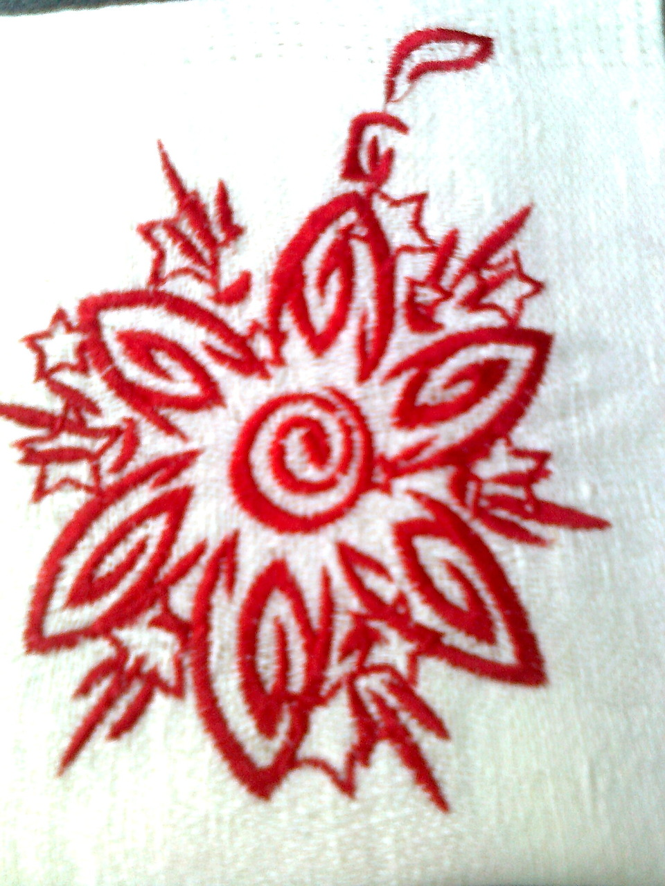 Christmas fireworks design embroidered