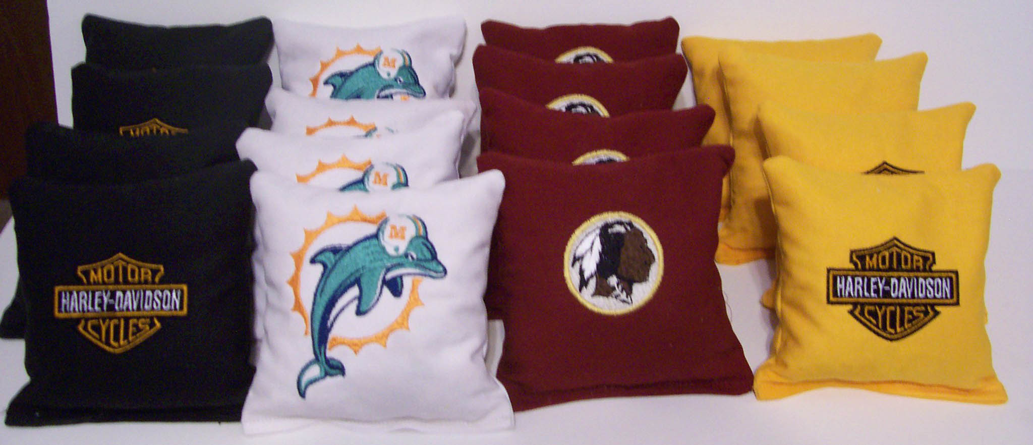 Different designs on pillowcases1