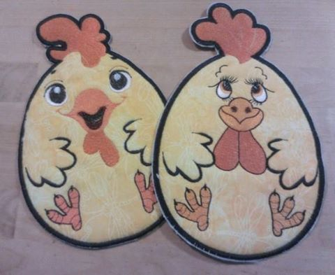 Embroidered Rooster kitchen potholder