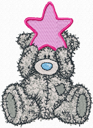 Teddy Bear Christmas machine embroidery design