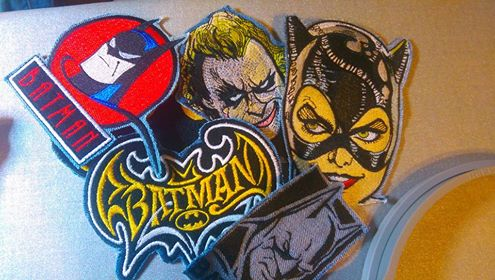 Batman designs embroidered